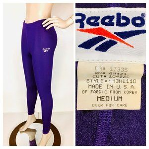 Vintage 80's Reebok Purple High Waist Leggings